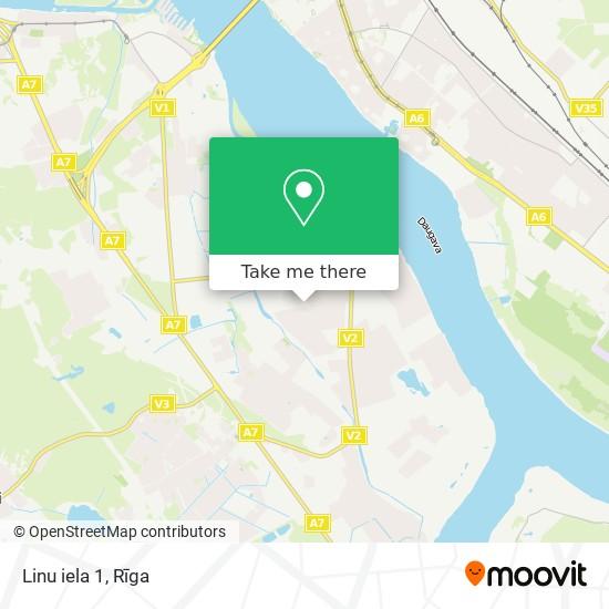 Linu iela 1 map