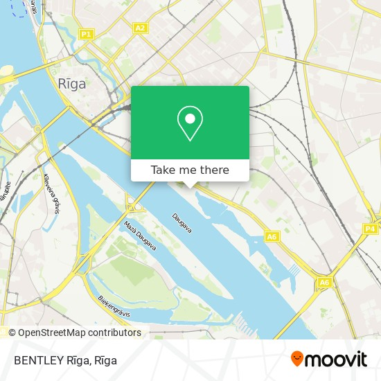 BENTLEY Rīga map