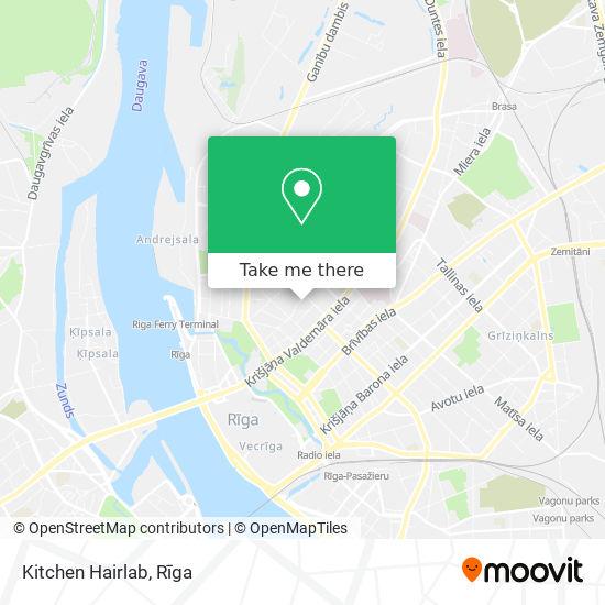Kitchen Hairlab map