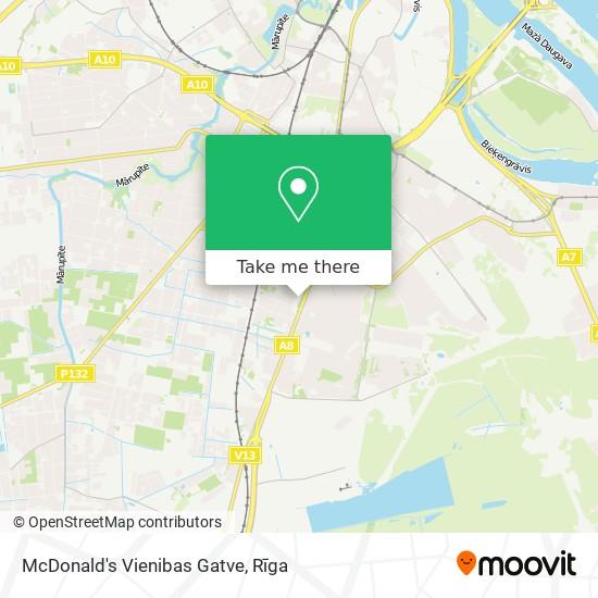 McDonald's Vienibas Gatve map