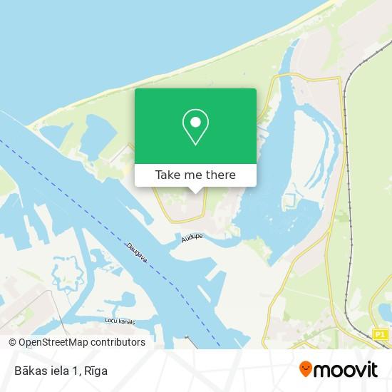 Bākas iela 1 map