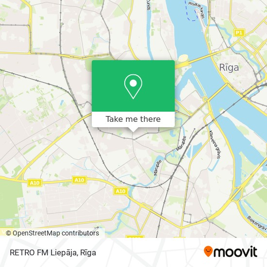 RETRO FM Liepāja map