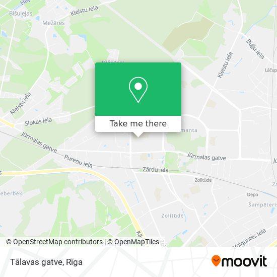 Tālavas gatve map
