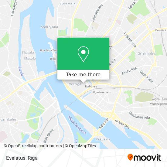 Evelatus map