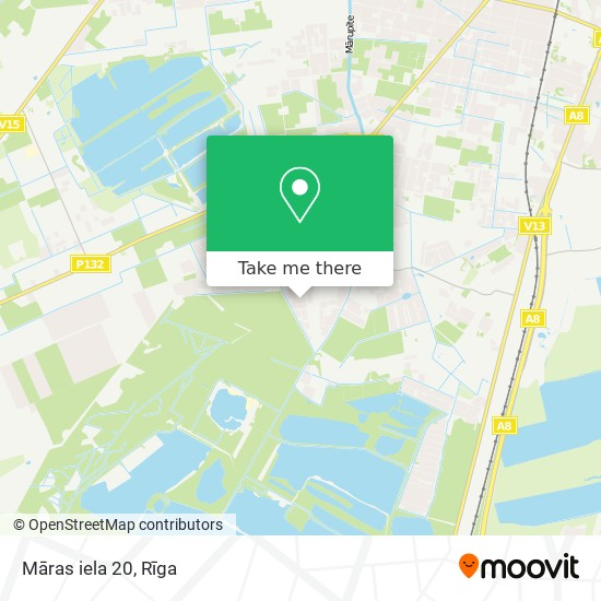 Māras iela 20 map