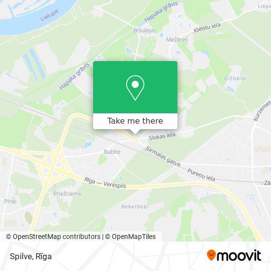 Spilve map