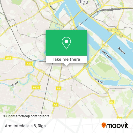 Armitsteda iela 8 map