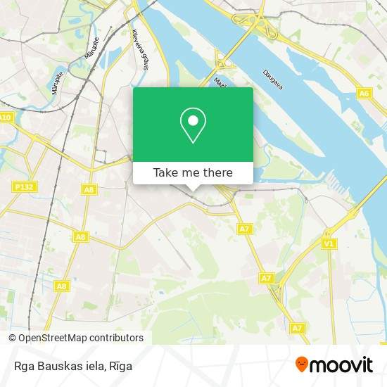 Rga Bauskas iela map