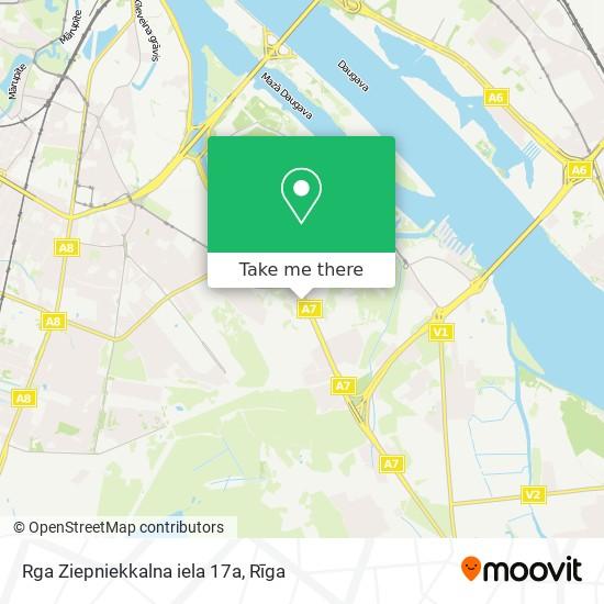 Rga Ziepniekkalna iela 17a map