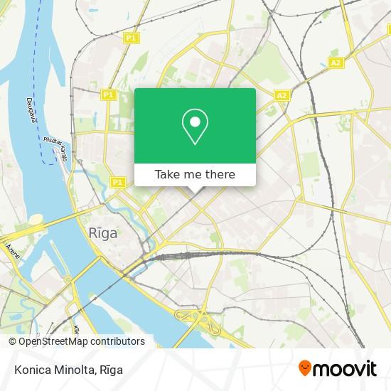 Konica Minolta map