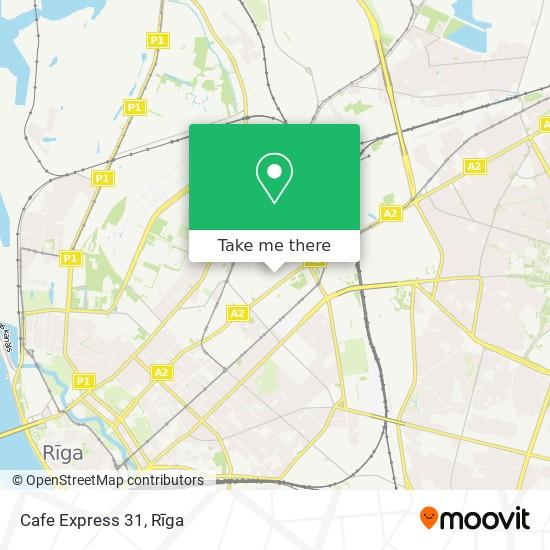 Cafe Express 31 map