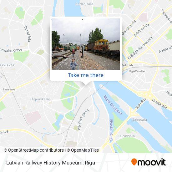 Latvian Railway History Museum map
