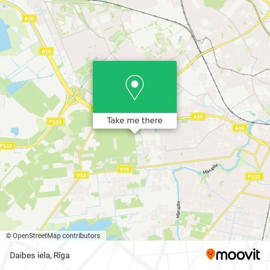 Daibes iela map