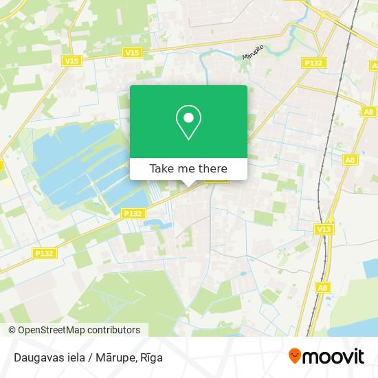 Daugavas iela / Mārupe map