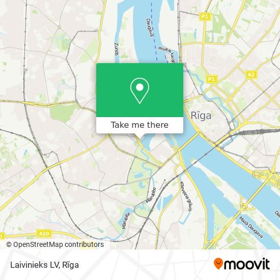 Laivinieks LV map