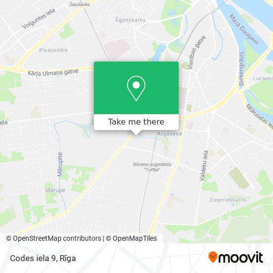 Codes iela 9 map