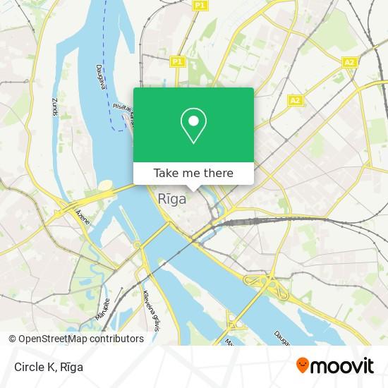 Circle K map