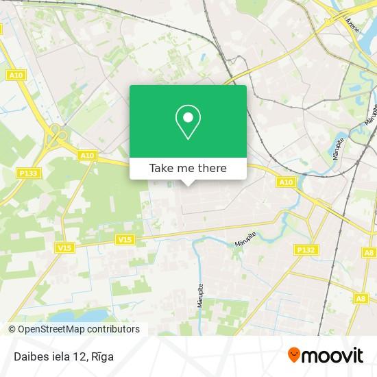 Daibes iela 12 map