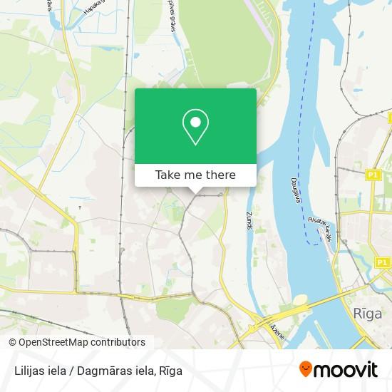 Lilijas iela / Dagmāras iela map