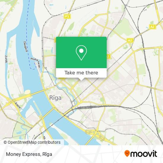 Money Express map