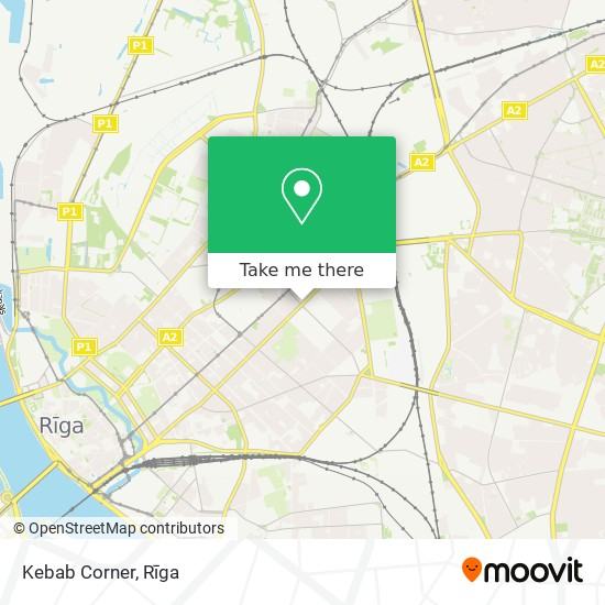 Kebab Corner map