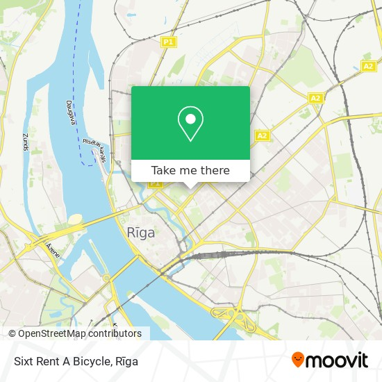 Sixt Rent A Bicycle map