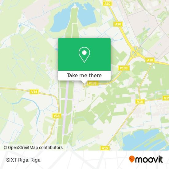 SIXT-Rīga map
