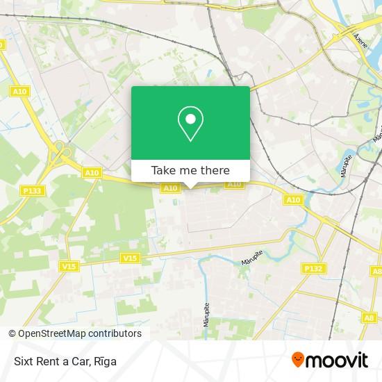 Sixt Rent a Car map