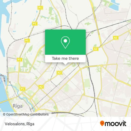 Velosalons map