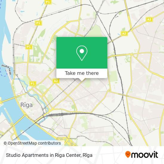 Studio Apartments in Riga Center map