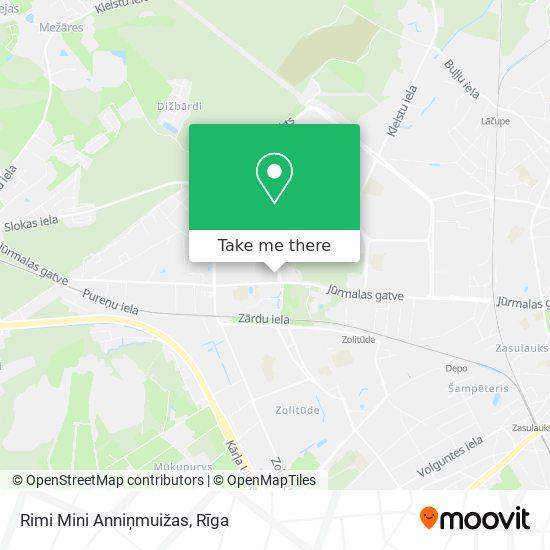 Rimi Mini Anniņmuižas map