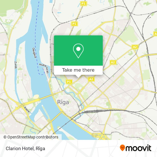 Clarion Hotel map