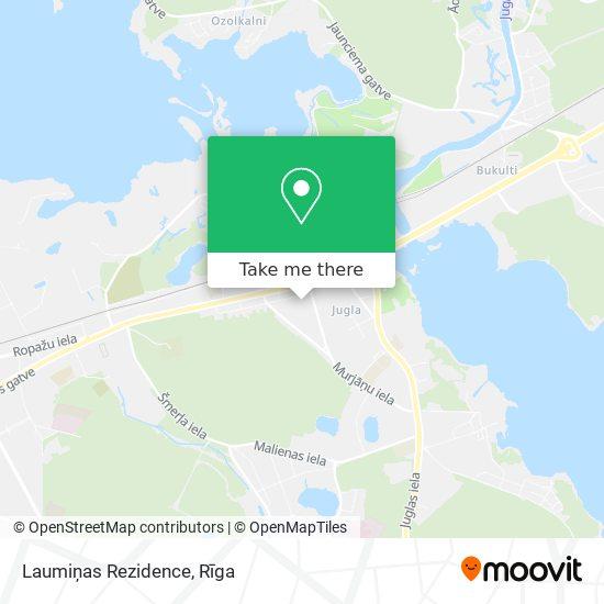 Laumiņas Rezidence map