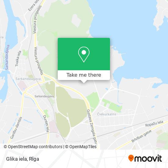 Glika iela map