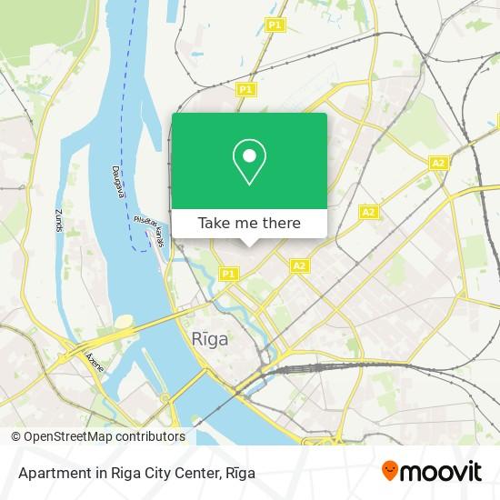 Apartment in Riga City Center map