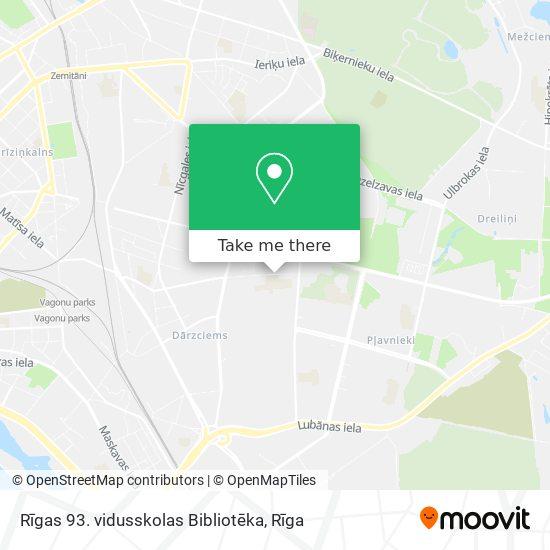 Rīgas 93. vidusskolas Bibliotēka map
