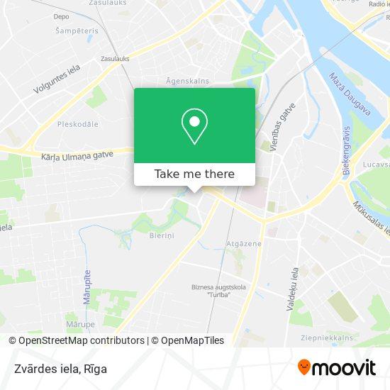 Zvārdes iela map
