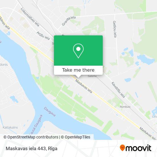 Maskavas iela 443 map