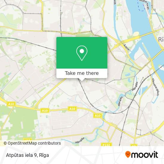 Atpūtas iela 9 map