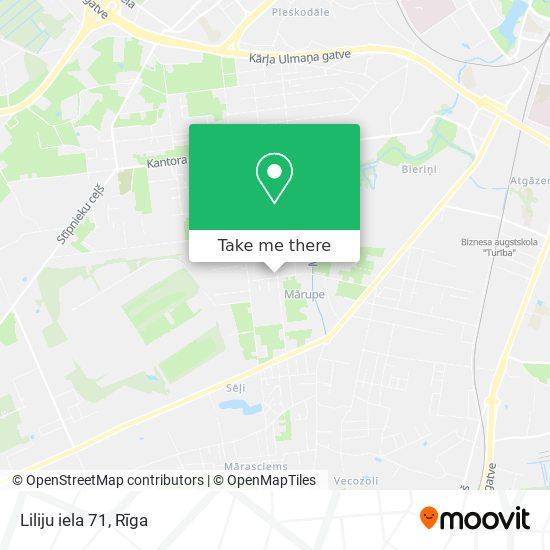Liliju iela 71 map