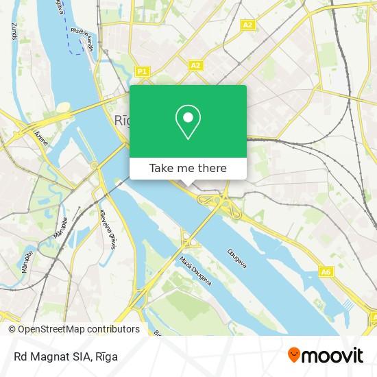 Rd Magnat SIA map