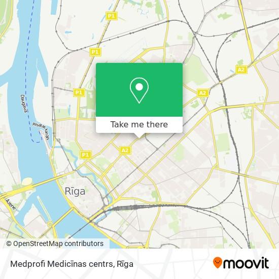 Medprofi Medicīnas centrs map
