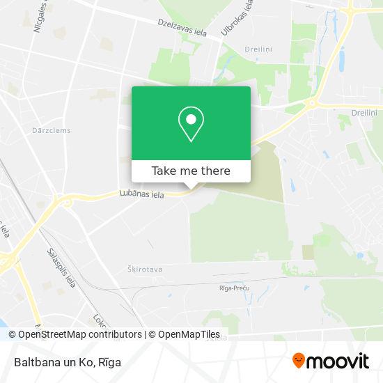 Baltbana un Ko map