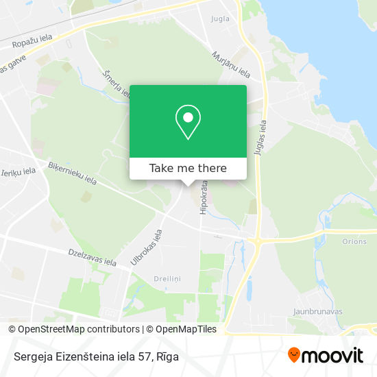 Sergeja Eizenšteina iela 57 map