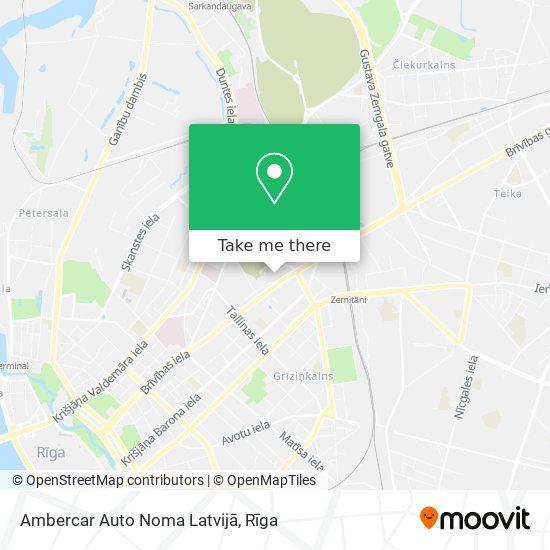 Ambercar Auto Noma Latvijā map
