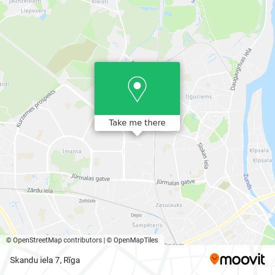 Skandu iela 7 map