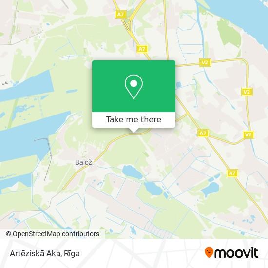 Artēziskā Aka map