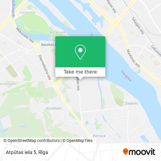 Atpūtas iela 5 map