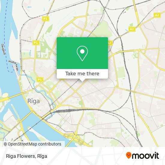 Riga Flowers map