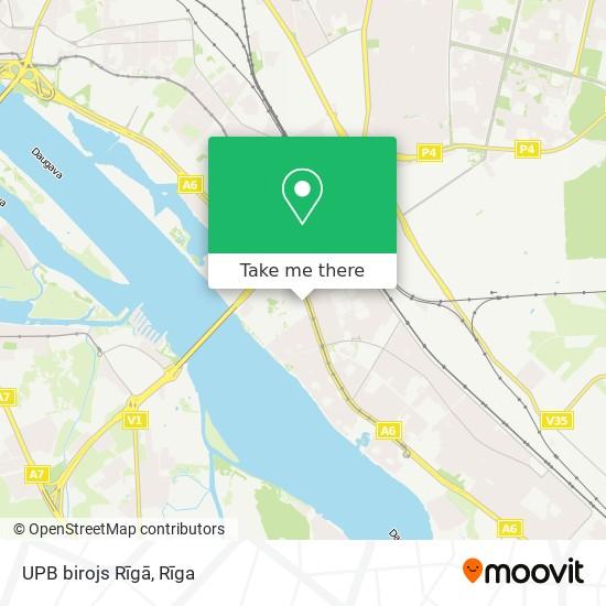 UPB birojs Rīgā map
